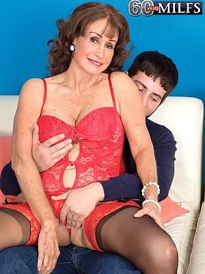 Sixty Plus Milf Jacqueline Jolie Gets a Creampie